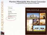 Marriott Minneapolis West Acknwledgement
