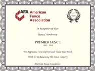 """15"" Year Membership Award"