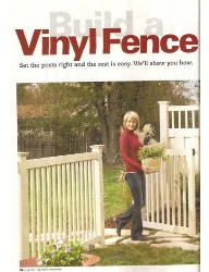 Build A Vinyl Fence Article-Family Handyman