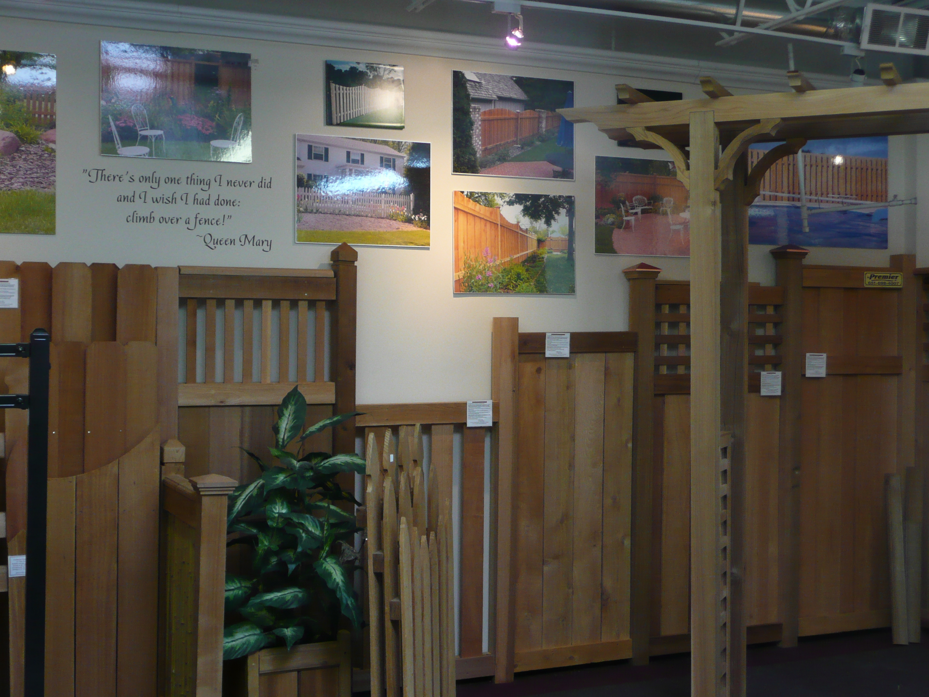 Premier Fence Showroom