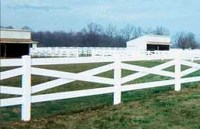 Crossbuck Viny Rail Fence