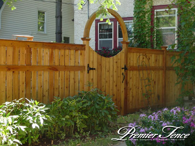 Wood fence framed designs pool fencing woodbury fence company wood privacy fence bradford with arch solutioingenieria Image collections